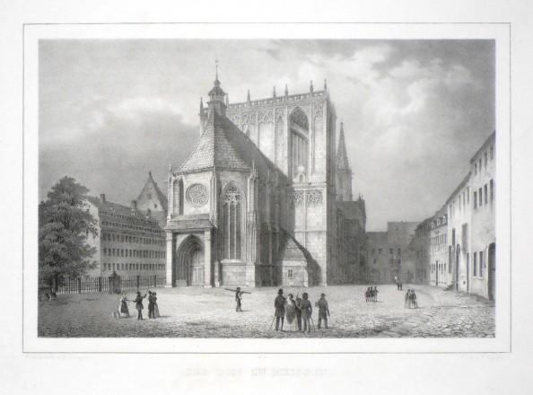 Der Dom zu Meissen - Alte Landkarte
