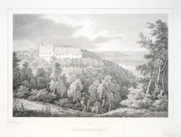 Scharfenberg - Alte Landkarte