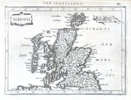 Schotia - Alte Landkarte