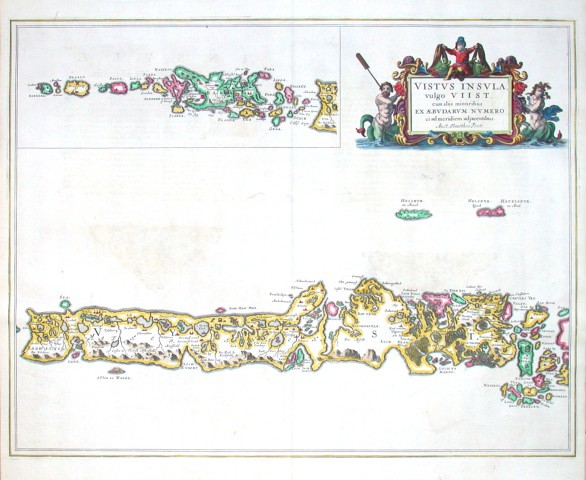 Vistvs Insvla, vulgo Viist - Stará mapa