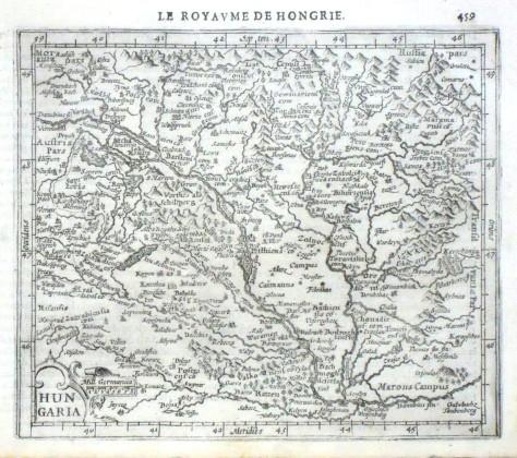 Hungaria - Alte Landkarte