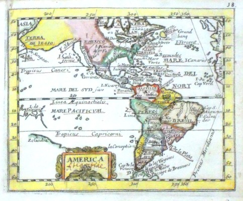 America - Alte Landkarte