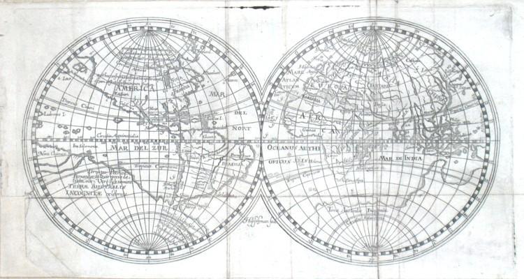 Mapa světa - Stará mapa