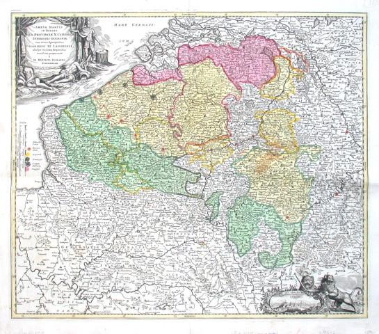 Arena Martis in Belgico, qua Provinciae X. Catholicae Inferioris Germaniae - Alte Landkarte