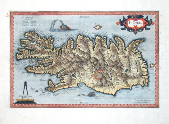 Islandia - Alte Landkarte