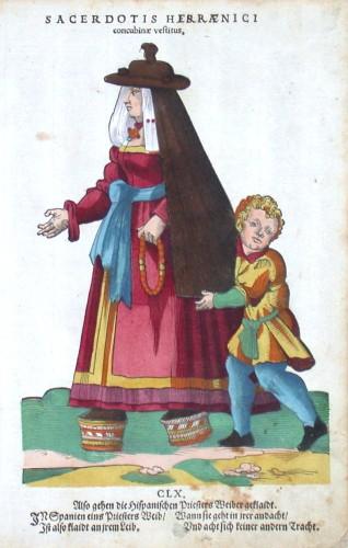 Sacerdotis Hispaenici concubine vestitus - Stará mapa