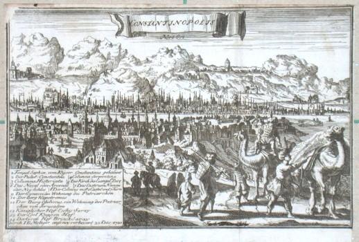 Constantinopolis - Alte Landkarte