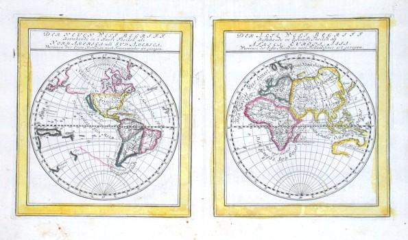 Der Neuen Welt Begriff. Bestehend in  Der Alte Welt Begriff bestehend in - Alte Landkarte