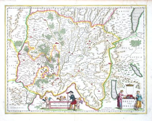 Bressia Vulgo Bresse - Stará mapa