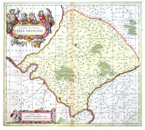 Carte dv Pays Vexin Francois - Antique map