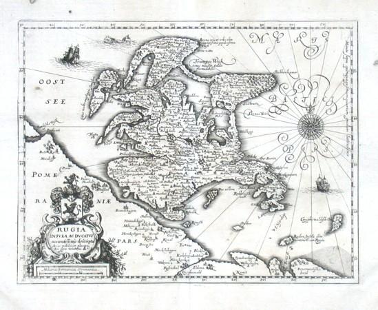 Rugia Insvla ac Dvcatvs accuratissime descripta - Stará mapa
