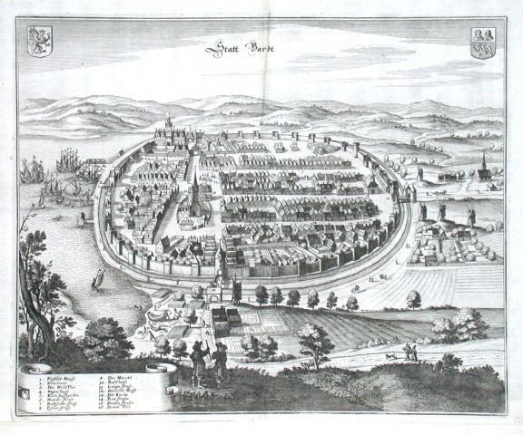 Statt Bardt - Alte Landkarte