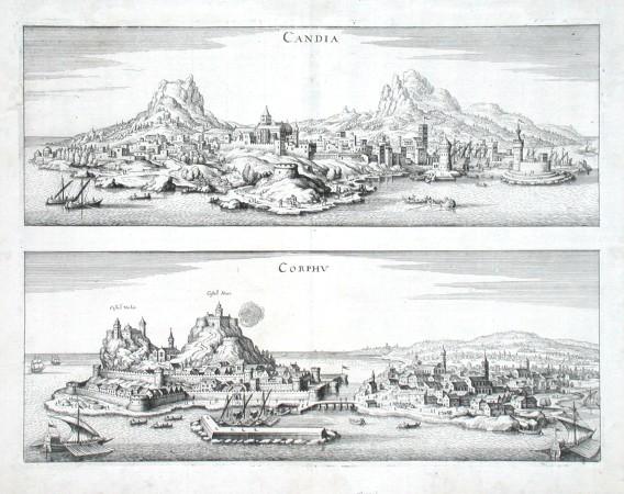 Candia. Corphv - Stará mapa