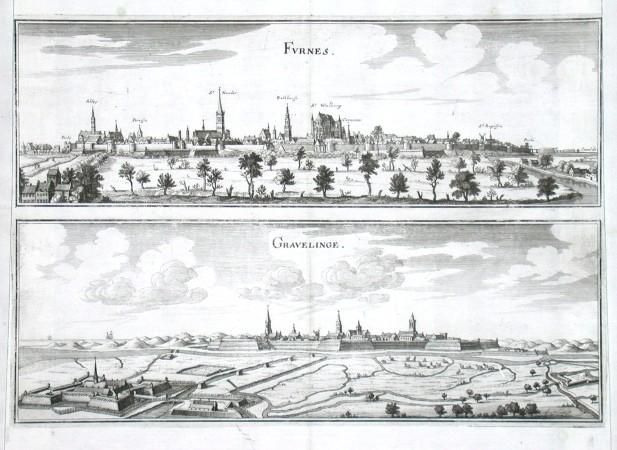 Gravelinge - Stará mapa