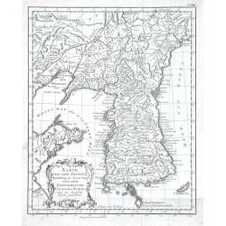 Karte von der Provinz Quantong oder Lyau-tong und dem Koenigreiche Kau-li oder Korea