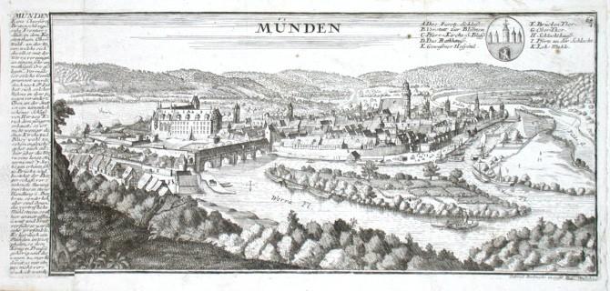 Münden - Stará mapa