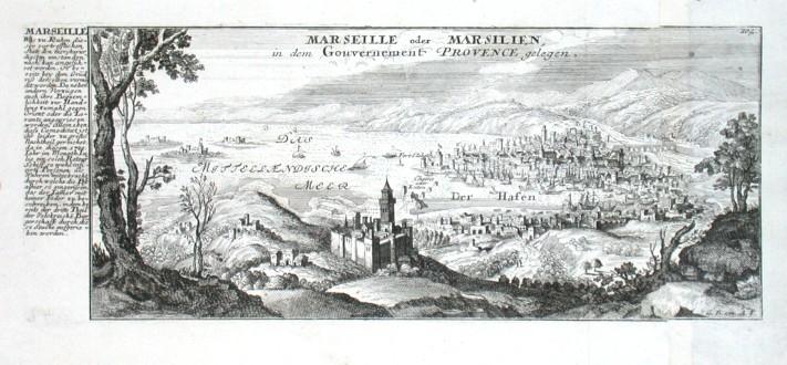 Marseille oder Marsilien - Antique map