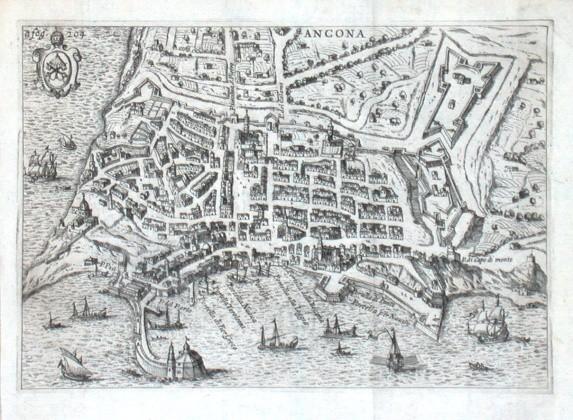 Ancona - Stará mapa