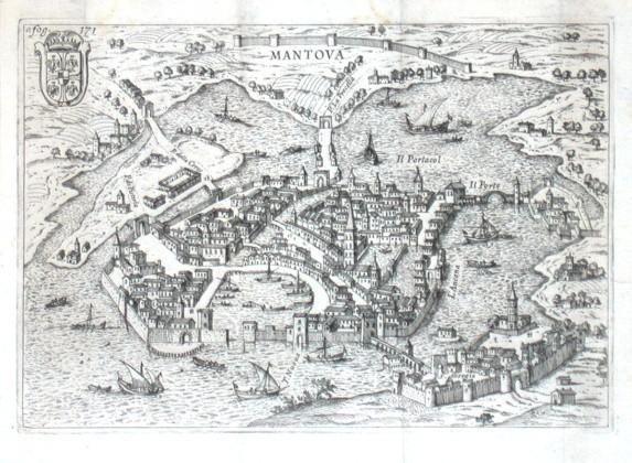 Mantova - Stará mapa