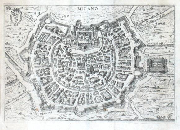 Milano - Stará mapa