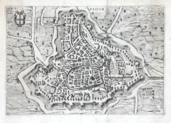 Padoa - Alte Landkarte