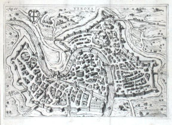 Verona - Stará mapa