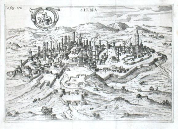 Siena - Stará mapa