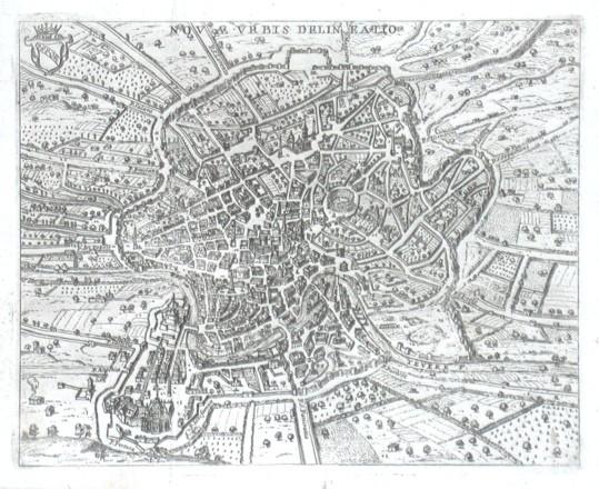Novae Vrbis delineatio - Stará mapa