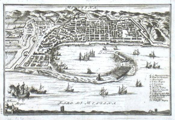 Messina - Alte Landkarte
