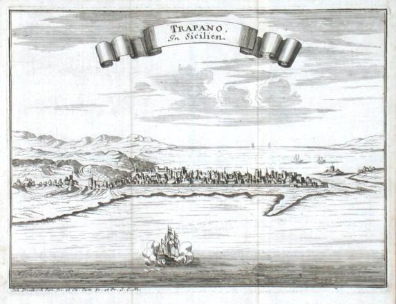Trapano In Sicilien - Stará mapa