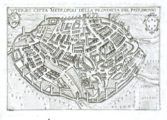 Viterbo citta metropoli della provincia del Patrimonio - Alte Landkarte