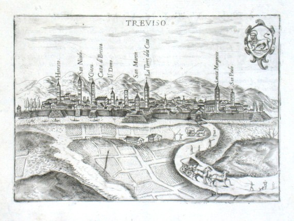 Treviso - Alte Landkarte