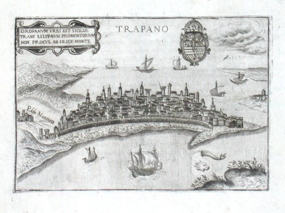 Trapano - Alte Landkarte