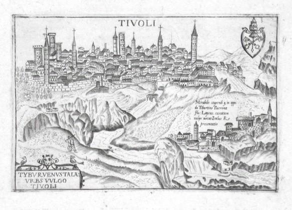 Tivoli - Alte Landkarte