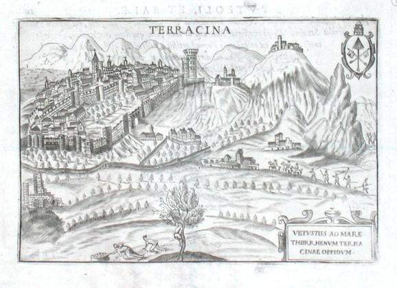 Terracina - Alte Landkarte