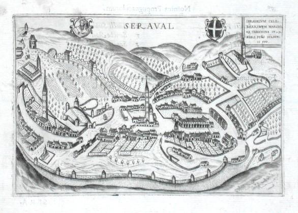 Seraval - Stará mapa