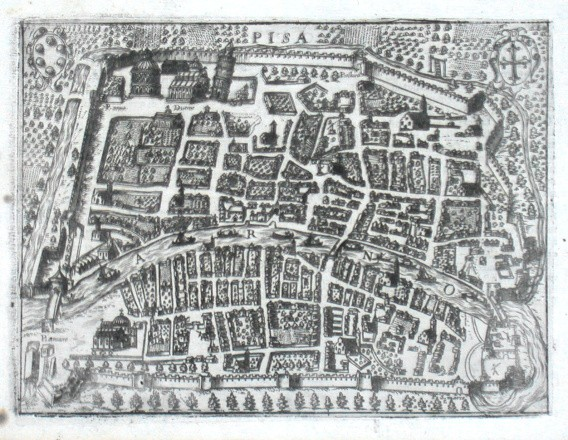 Pisa - Alte Landkarte