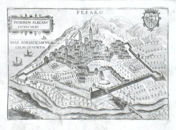 Pesaro - Stará mapa