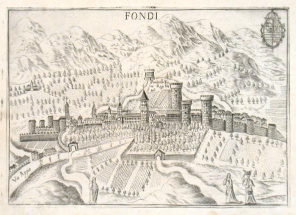 Fondi - Alte Landkarte