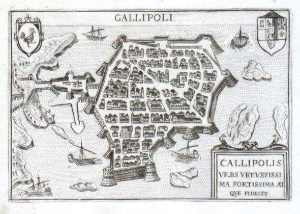 Gallipoli - Stará mapa