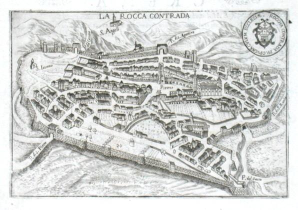 La Rocca Contrada - Alte Landkarte
