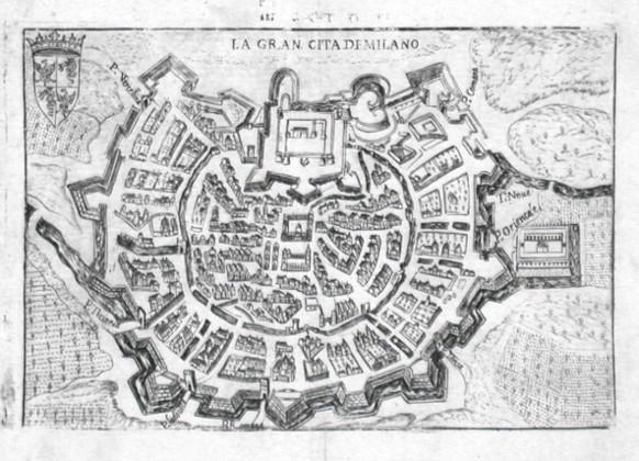La Gran Cita di Milano - Alte Landkarte