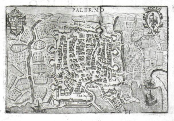 Palermo - Alte Landkarte