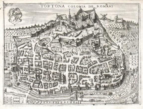 Tortona colonia de Romani - Alte Landkarte