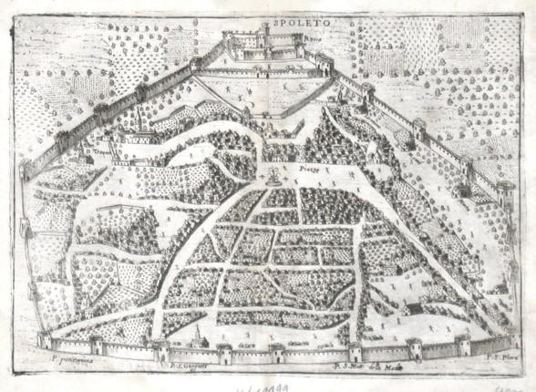 Spoleto - Alte Landkarte