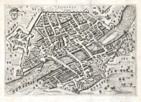 Fiorenza - Alte Landkarte