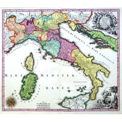 L'Italia con Le sue Poste e Strade Principali