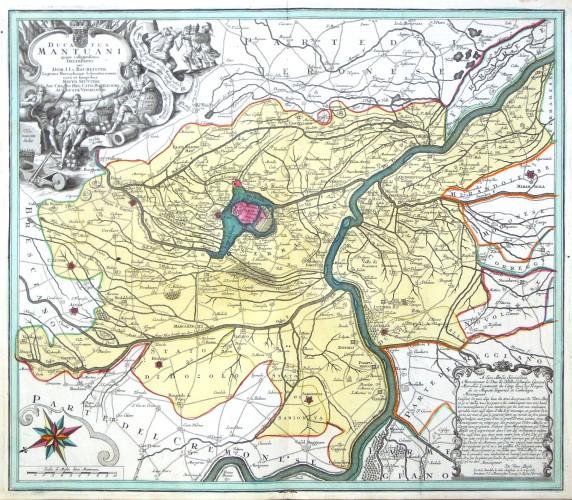 Mantua - Ducatus Mantuani quam catigatissima Delineatio - Alte Landkarte