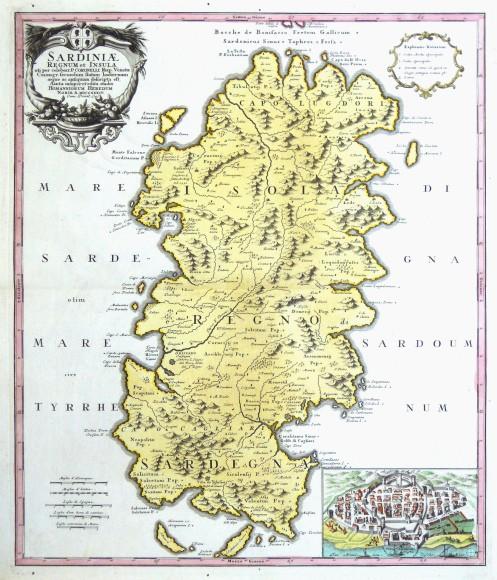 Sardiniae Regnum et Insula - Alte Landkarte
