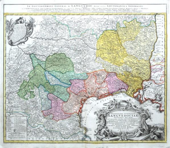 Gvbernatio Generalis Lngvedociae - Alte Landkarte